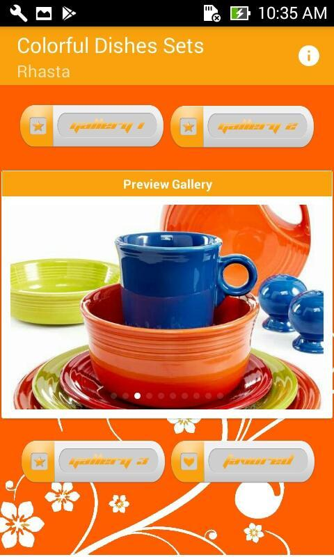 Colourful Dishes Sets for Android 1